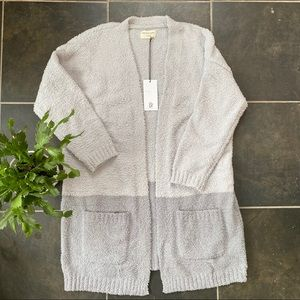 Cozy two-toned cardigan sweater